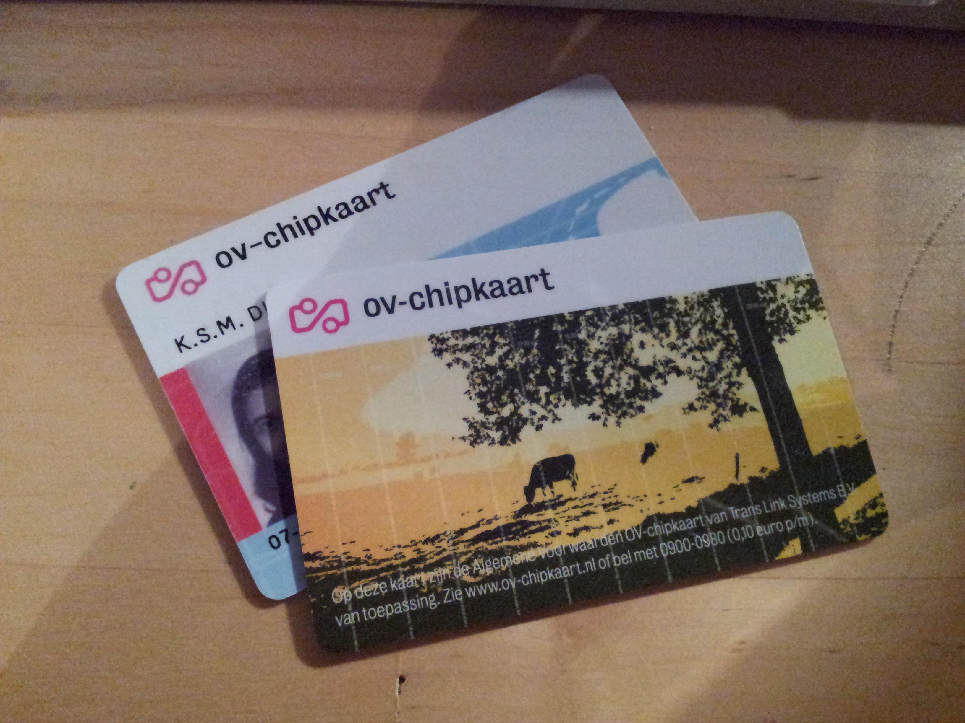 OV-chipkaarten, oud en nieuw