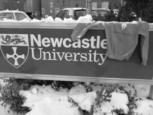 Ik ging op uitwisseling naar Newcastle University en daar bleek het veel te sneeuwen.