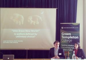 Onze presentatie op de Human Welfare Conference.