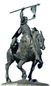El Cid (1043-1099) te paard.