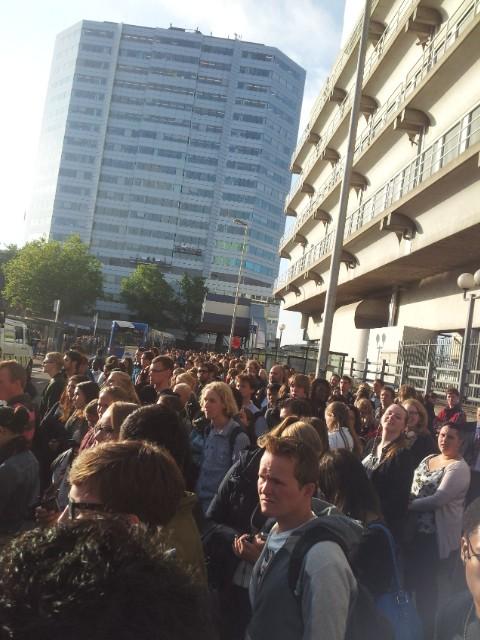 massa bij bus 12S (Utrecht)