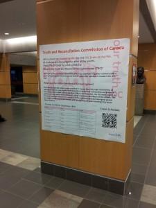 De Truth and Reconciliation Day wordt overal op de campus groots aangekondigd.