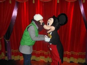 Natuurlijk wilde ik ook met Mickey op de foto!