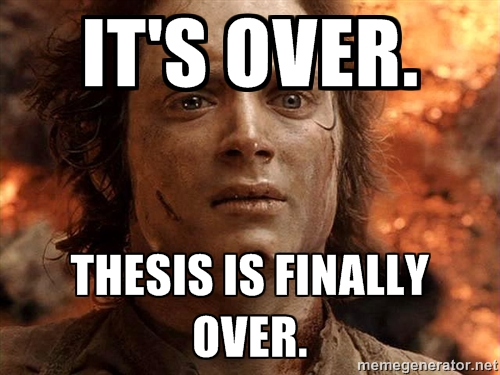 it's over thesis