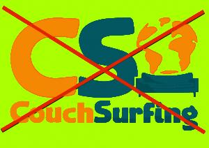 Couchsurfen is prima, maar niet als je zelf al in een geleende kamer woont.