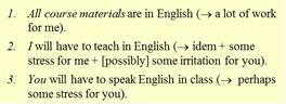 Engels kan voor iedereen een omschakeling zijn, aldus een statistieksheet van Peter de Heus.