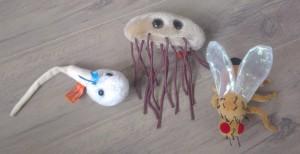 Een goed voorbeeld voor probs zijn Giant Microbes, een miljoen keer vergroote micro-organismen. Hier een spermacel, een darmbacterie en een fruitvlieg.