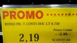 Ook in de supermarkt probeerden we de inscripties te ontcijferen: Rosso pic(tori) Tito...
