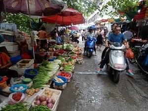 De markt in China