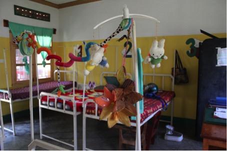De slaapzaal van de 'malnutrition unit'.