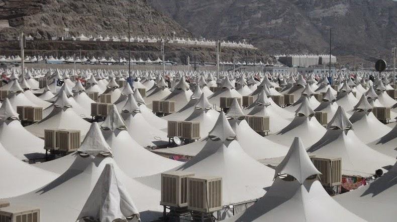 Mina, het tentenkamp voor de pelgrims tijdens de Hadj