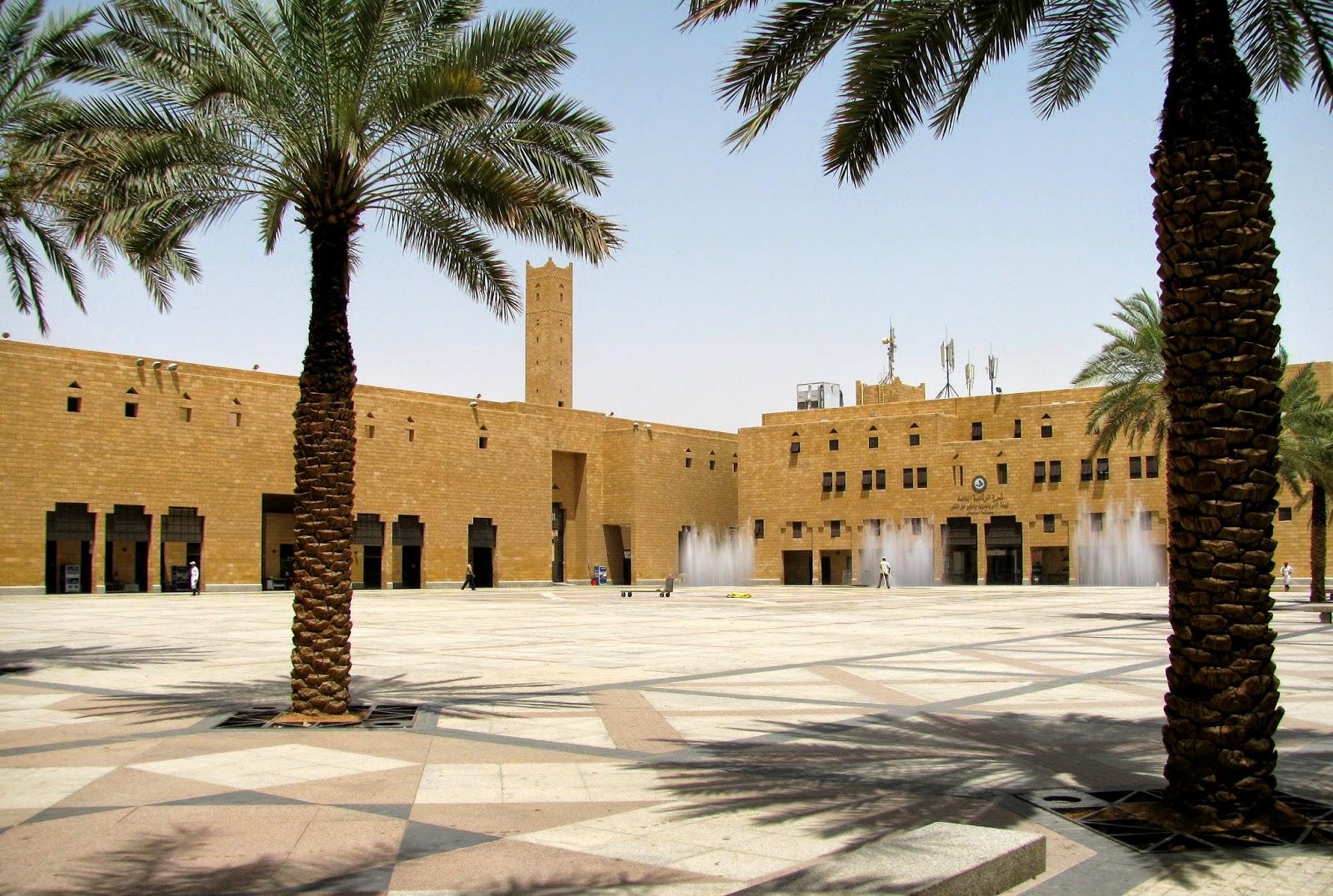Het Al Safa-plein in het oude centrum van Riyad